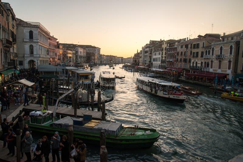 View from the Rialto Bridge in Venice stock photo