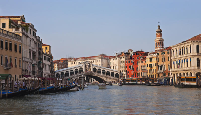 Download Rialto Bridge, Evening Panorama Royalty Free Stock Photography - Image: 27044197