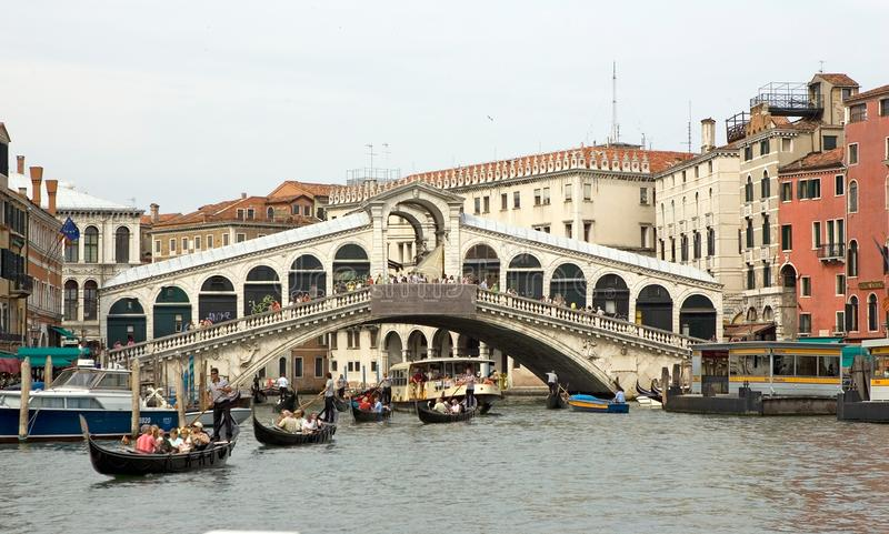 Download Rialto bridge and gondola editorial photography. Image of gran - 19207212