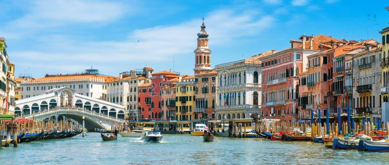 Rialto Bridge over Grand Canal, Venice, Italy stock images