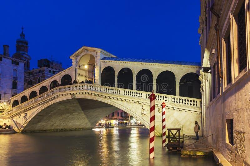 Rialto bridge in Venice, Italy.  royalty free stock images