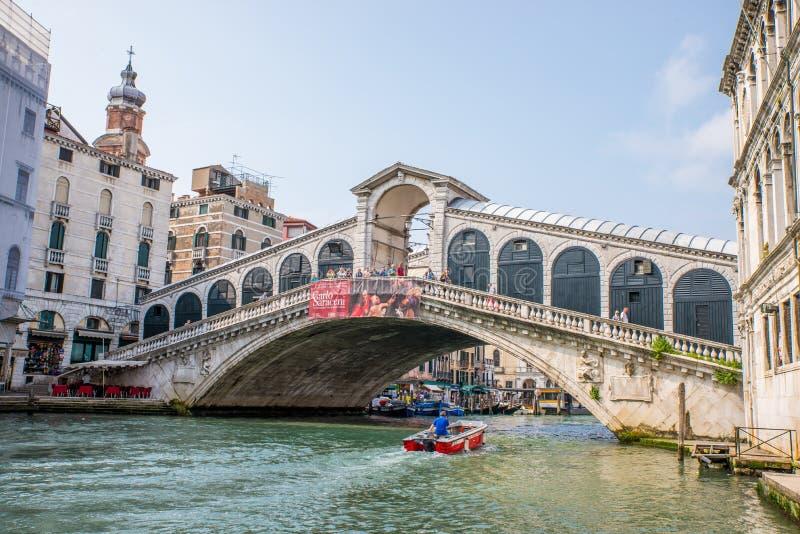rialto venice Италии моста стоковая фотография