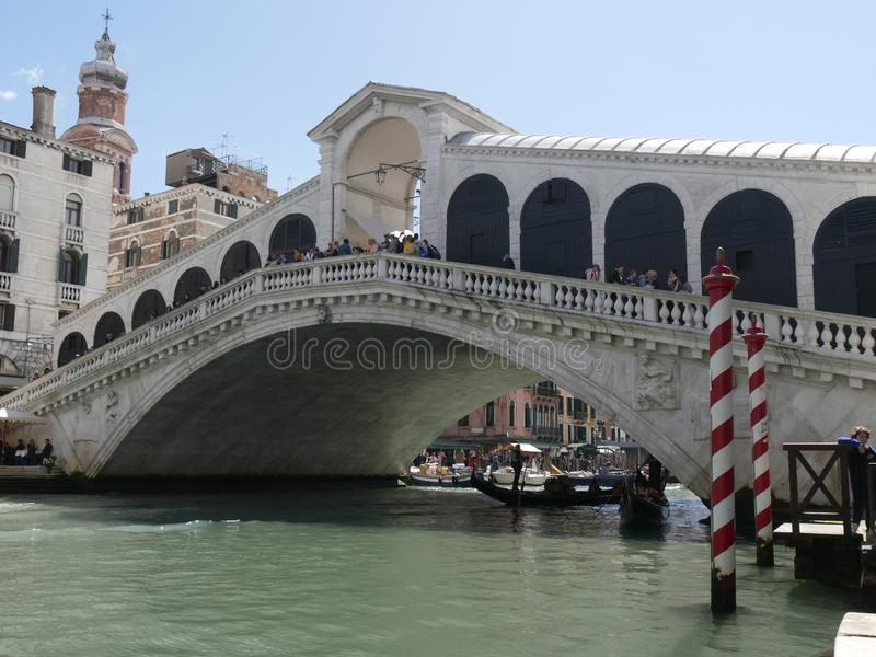 rialto venice моста стоковая фотография rf