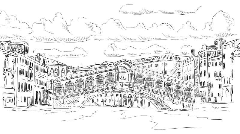 Rialtobrug stock illustratie