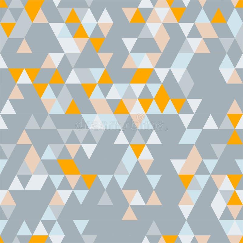 Riangle Bezszwowy tło z trójboków kształtami Różni kolory royalty ilustracja