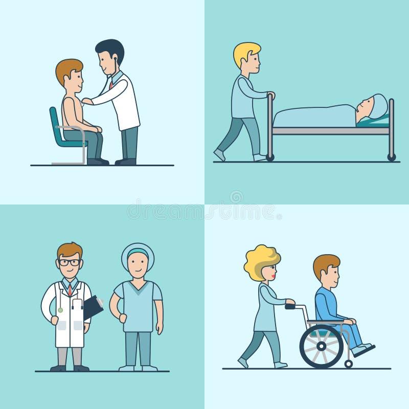 Rianimazione piana lineare di trattamento medico royalty illustrazione gratis