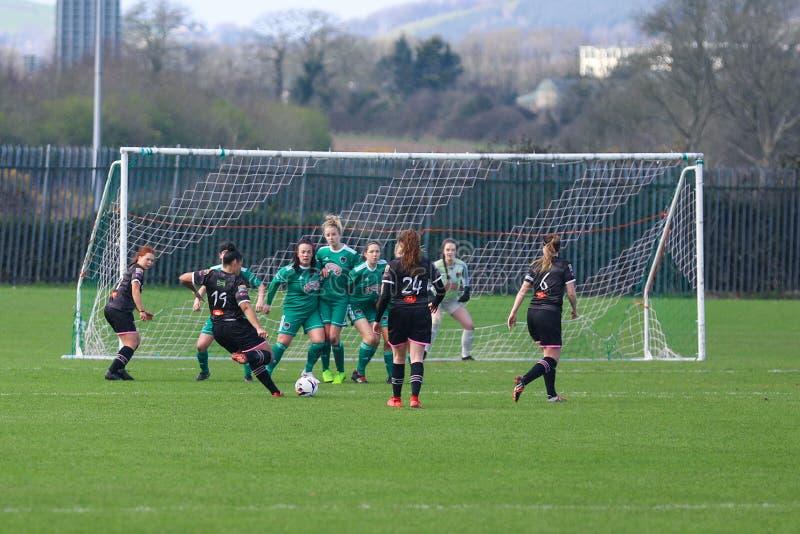 Rianna Jarrett pendant le match de ligue national des femmes entre les femmes de Cork City FC et le Wexford Youths photographie stock libre de droits