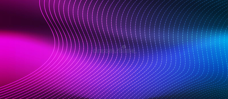Riassunto delle linee di curvatura lucida mesh in Banner sfondo blu e rosa illustrazione vettoriale