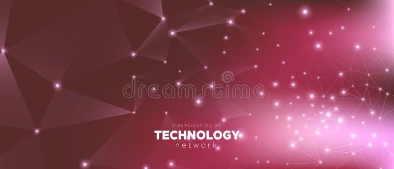 Riassunto di Big Data Poster tecnologico Rosso illustrazione vettoriale