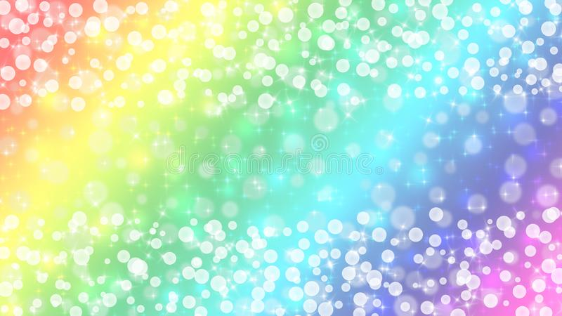 Riassunto di Bright Bokeh e Sparkles in background di Rainbow Pastel Colors immagini stock libere da diritti