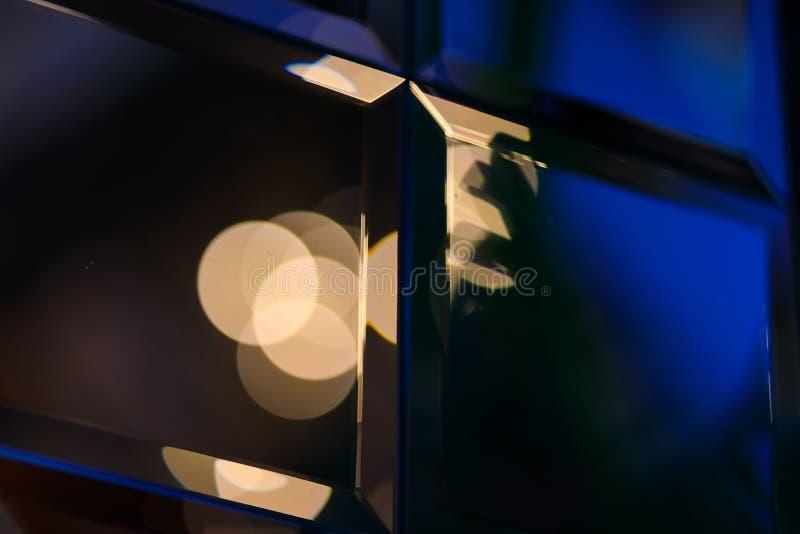 Riassunto di Golden glare su sfondo bokeh astratto - immagine fotografia stock