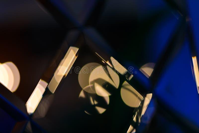 Riassunto di Golden glare su sfondo bokeh astratto - immagine immagine stock