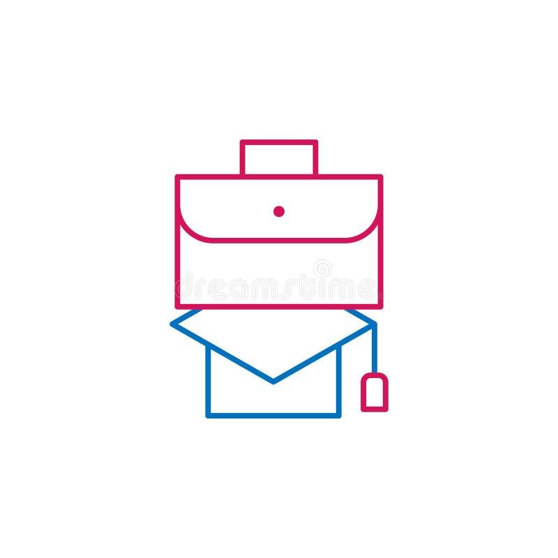 Riassunto di lavoro, linea colorata icona del tocco 2 Icona semplice dell'elemento colorato Riassunto di lavoro, icona di progett illustrazione di stock