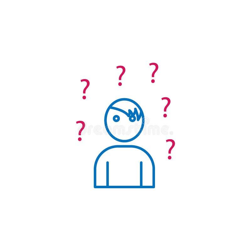 Riassunto di lavoro, linea colorata icona di domanda 2 Icona semplice dell'elemento colorato Riassunto di lavoro, icona di proget royalty illustrazione gratis