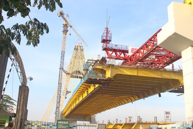 Riau IV brug in Pekanbaru stock afbeeldingen