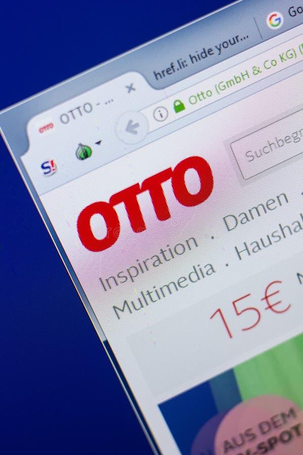 Riazan, Russie - 13 mai 2018 : Site Web d'Otto sur l'affichage du PC, URL - Otto De photographie stock