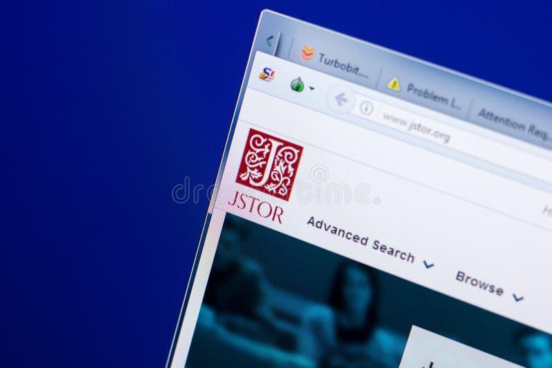 Riazan, Russie - 8 mai 2018 : Site Web de Jstor sur l'affichage du PC, URL - Jstor org images stock