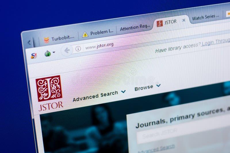 Riazan, Russie - 8 mai 2018 : Site Web de Jstor sur l'affichage du PC, URL - Jstor org photos libres de droits