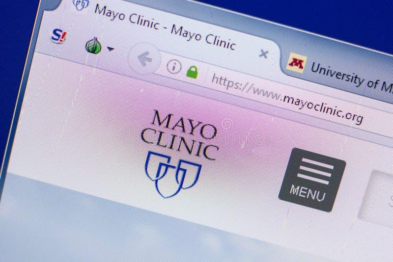 Riazan, Russie - 13 mai 2018 : Site Web de Mayo Clinic sur l'affichage du PC, URL - MayoClinic org photographie stock