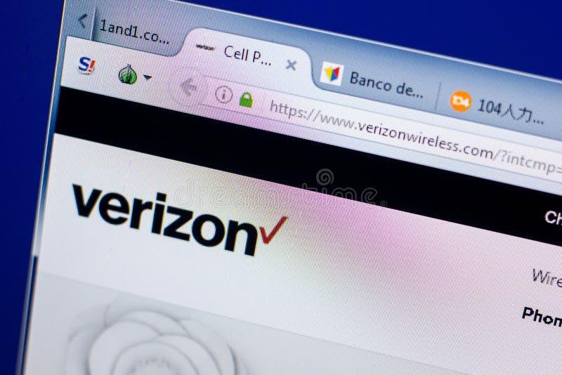 Riazan, Russie - 8 mai 2018 : Site Web de VerizonWireless sur l'affichage du PC, URL - VerizonWireless com image libre de droits