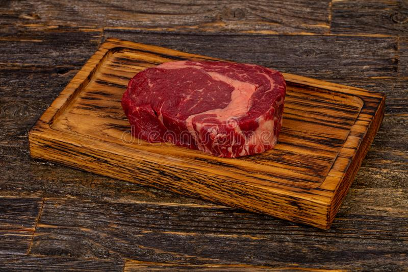 Rib Eye beef steak stock photo