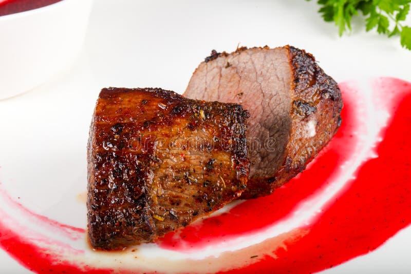 Rib-eye beef steak royalty free stock image