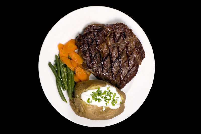 Rib Eye Steak Stock Images