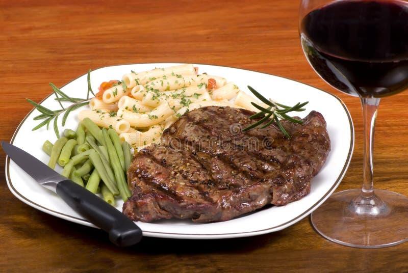 Rib Eye Steak Dinner 1 royalty free stock photos
