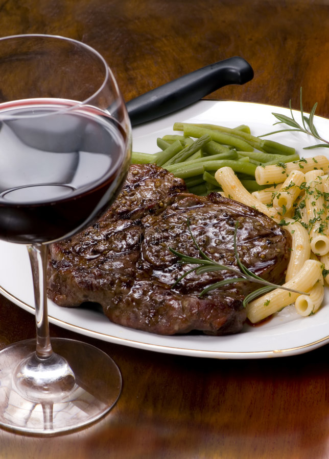 Rib Eye Steak Dinner 4 royalty free stock image