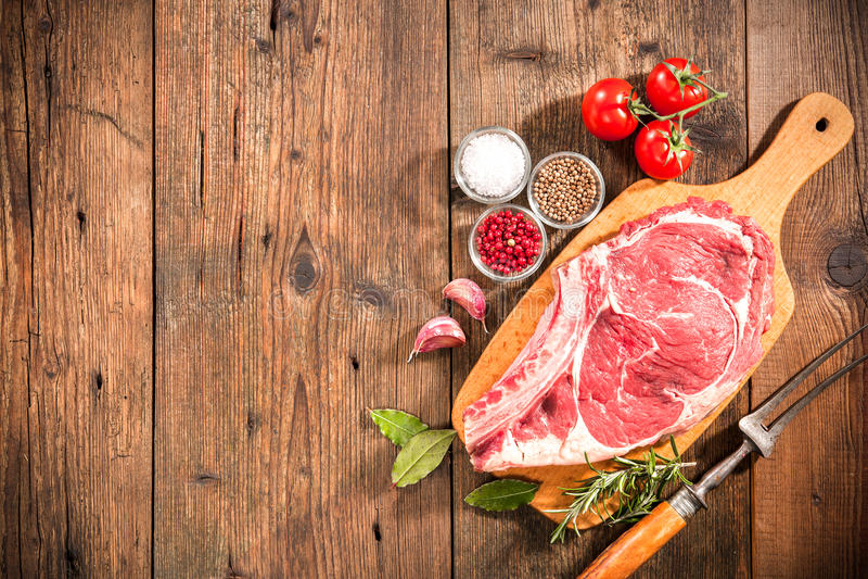 Rib eye steak royalty free stock images