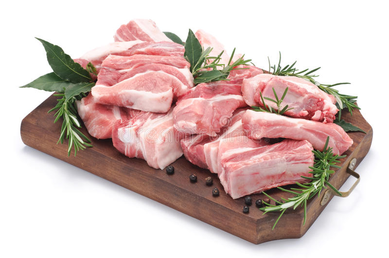 Rib of pork stock photography