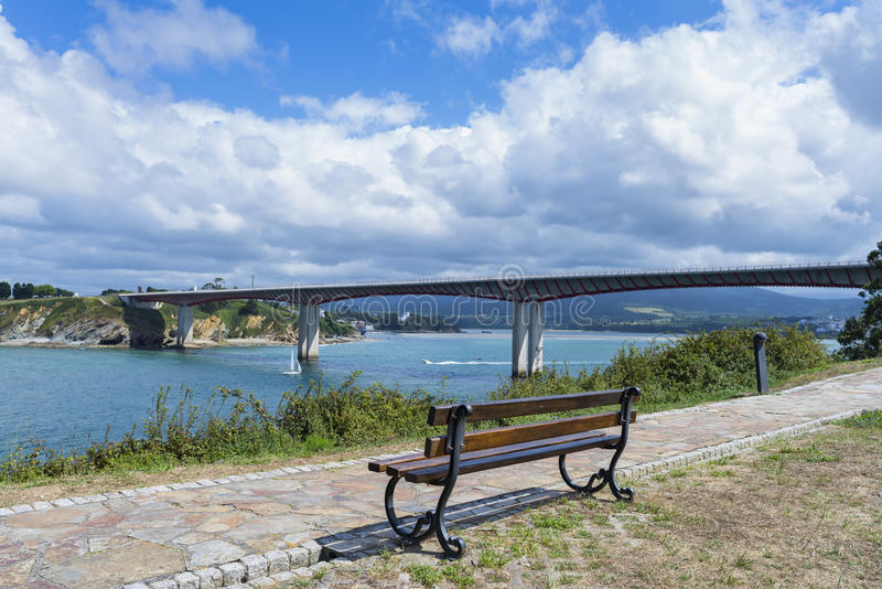 Ribadeo γέφυρα στοκ φωτογραφία με δικαίωμα ελεύθερης χρήσης