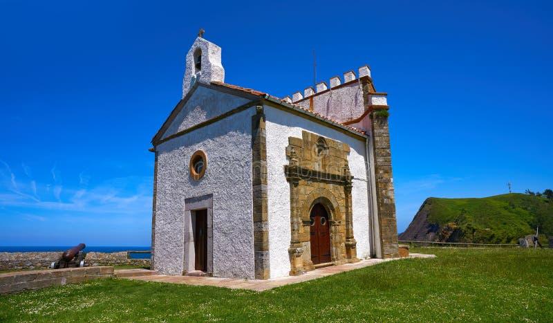 Ribadesella Ermita losu angeles Guia ermitaż Asturias Hiszpania obrazy royalty free