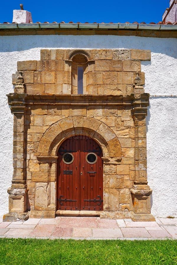 Ribadesella Ermita losu angeles Guia ermitaż Asturias Hiszpania zdjęcie stock