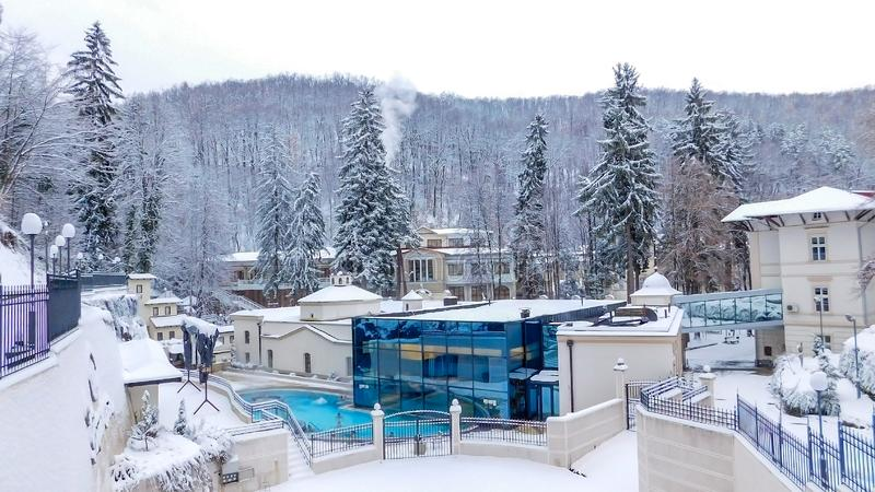 Ribarska Spa de Winterscène royalty-vrije stock fotografie