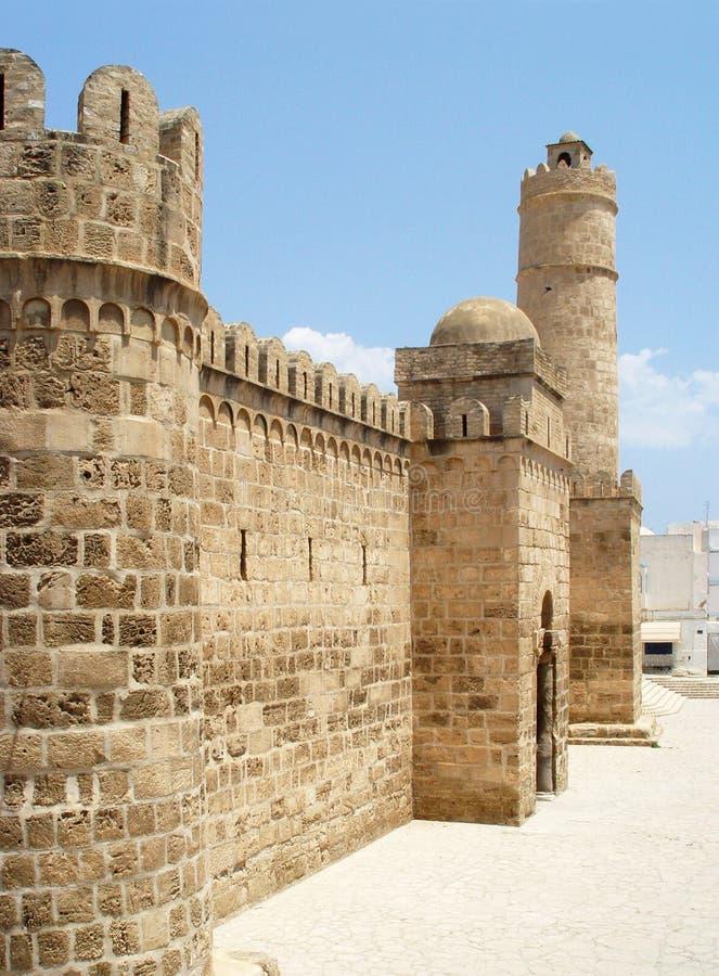 Ribat (堡垒)在苏斯镇  突尼斯 免版税库存图片