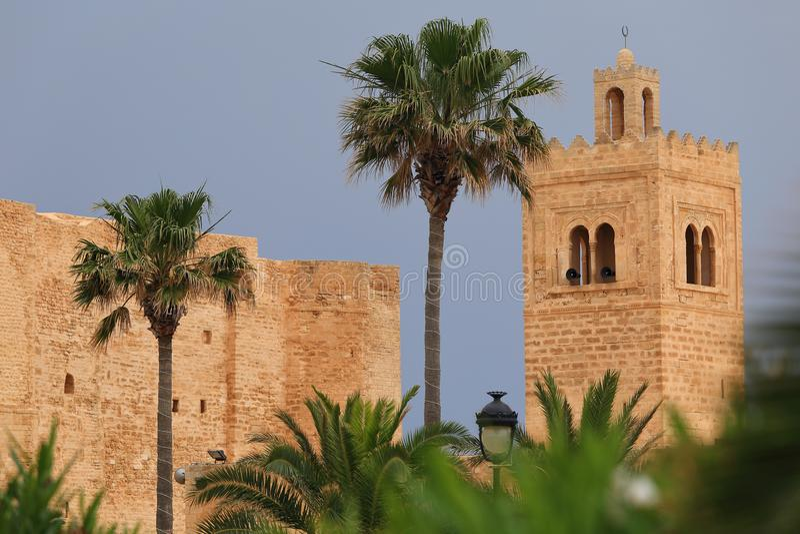 Ribat van Monastir in Tunesië stock foto