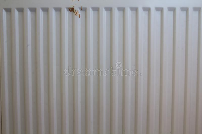 Ribbed blade heater of the heating system stock image