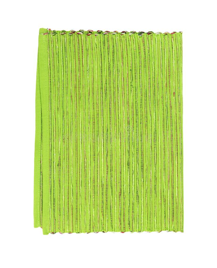 Ribbed green placemat stock photo