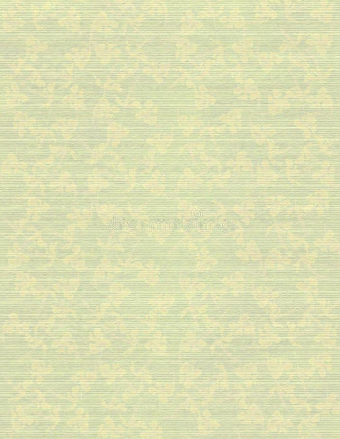 ribbed jordnärat svagt blom- ljust paper tryck royaltyfri illustrationer