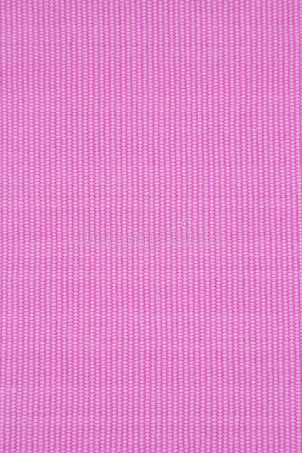Ribbed pink cotton placemat texture stock photo