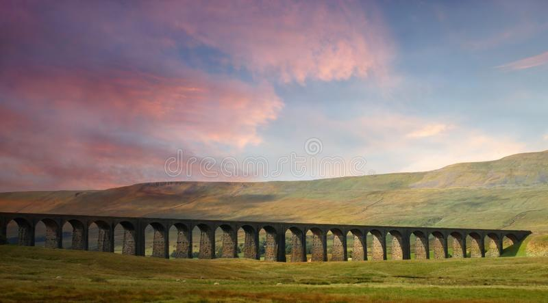 Ribblehead Viaduct. stock images