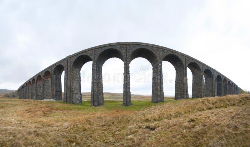 Ribbleheadviaduct, North Yorkshire stock afbeelding