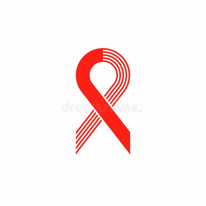 Ribbon aids symbol 22 vector illustration