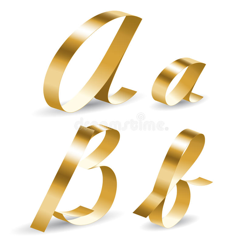 Download Ribbon alphabet ab stock vector. Image of chic, glossy - 29350335