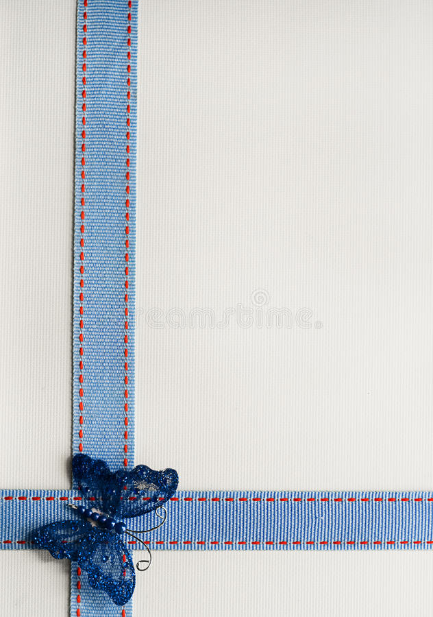 Free Ribbon And Butterfly Background. Royalty Free Stock Photos - 18125488
