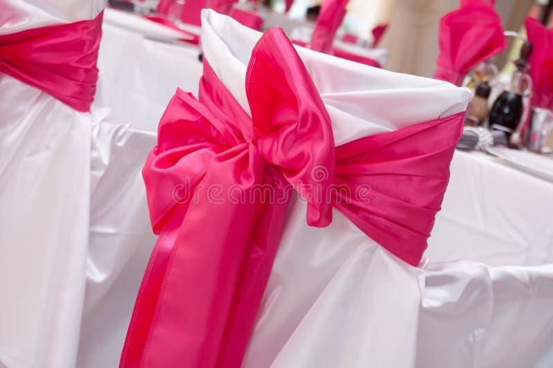 Ribbon arrangement of wedding stock image