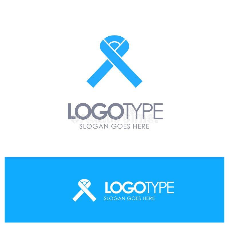Ribbon, Awareness, Cancer Blue Logo vector vector illustration