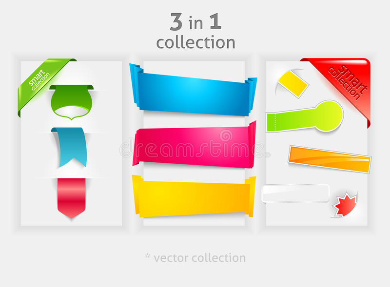 Ribbon and banner collection royalty free illustration