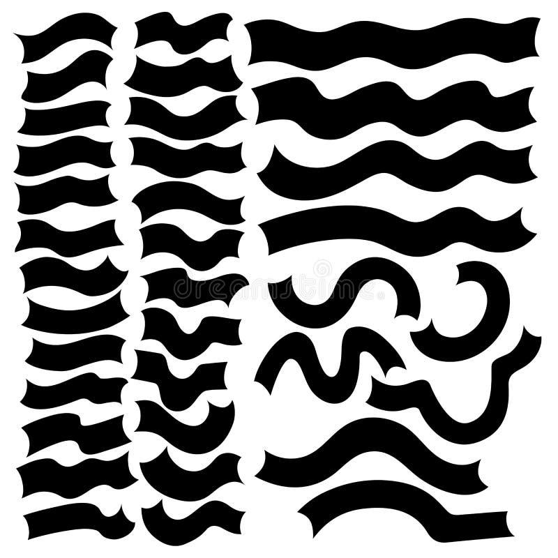 Ribbon Banner Collections. Vector illustration of ribbon banner design element collection royalty free illustration